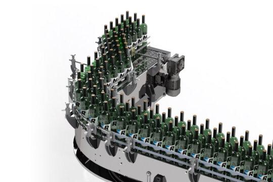 Linee trasporto bottiglie/vasetti/flaconi